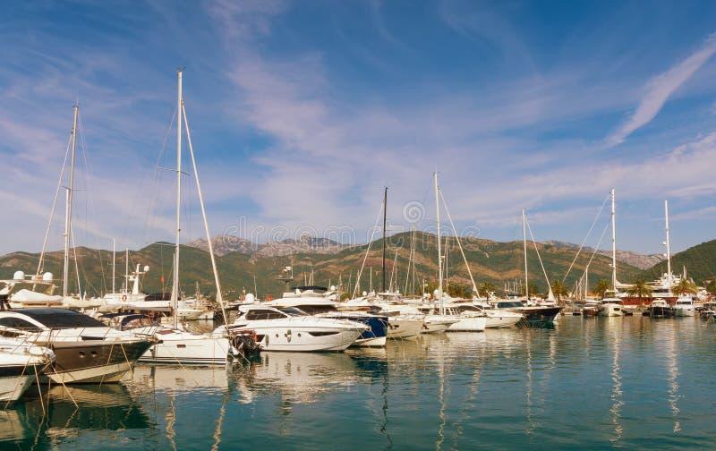 View of Porto Montenegro. Tivat city. Montenegro. View of Porto Montenegro in Tivat city. Montenegro royalty free stock photos