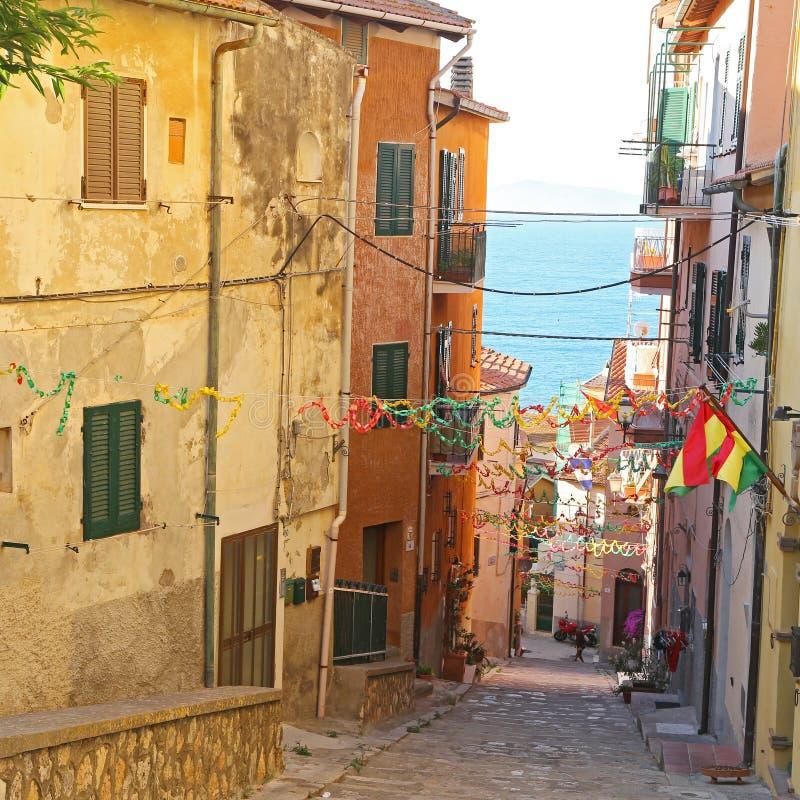 View of Porto Santo Stefano - Grosseto. Italy royalty free stock image