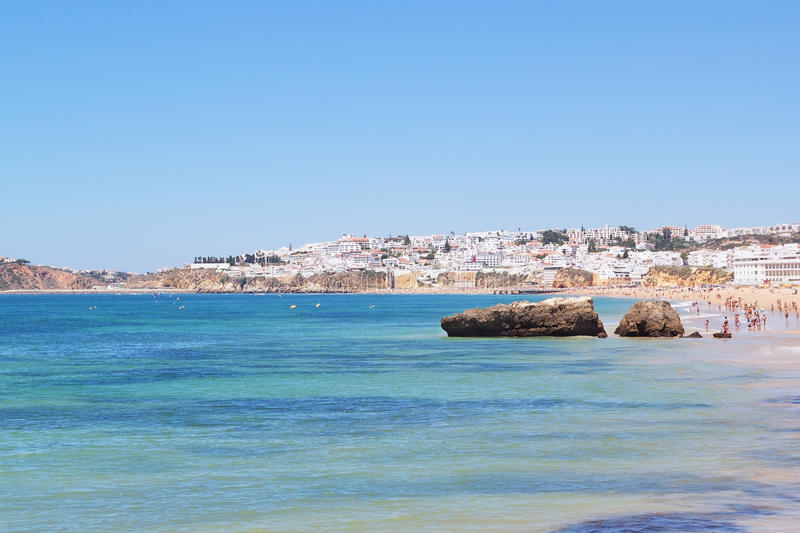 Download View Of The Portuguese Beach. Stock Image - Image: 25741553