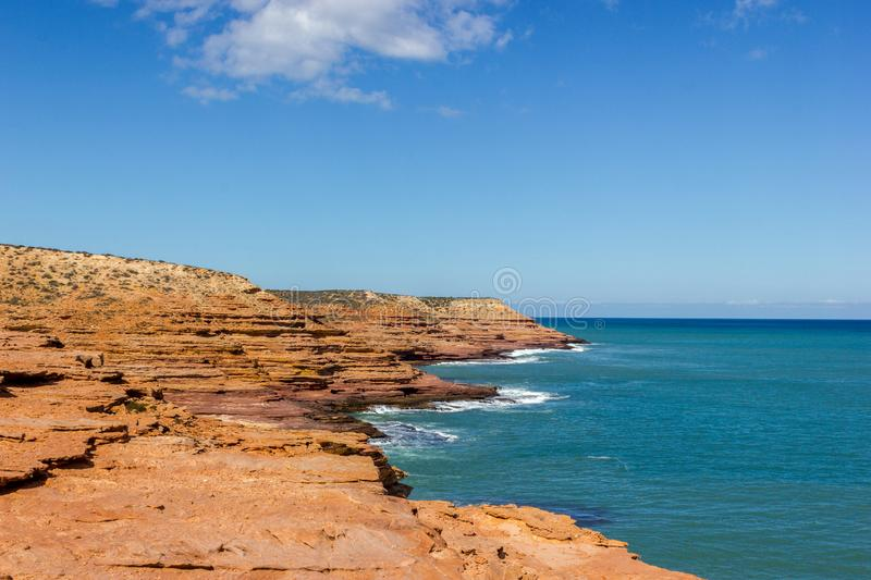 view of the Pot Alley in Kalbarri National Park, with beautiful clouds Western Australia stock images
