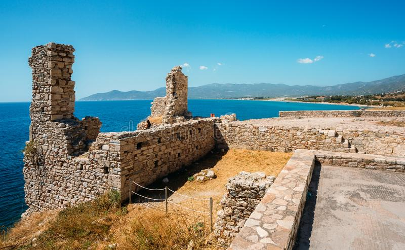 Castle of Lykourgos Logothetis in Samos Island royalty free stock image