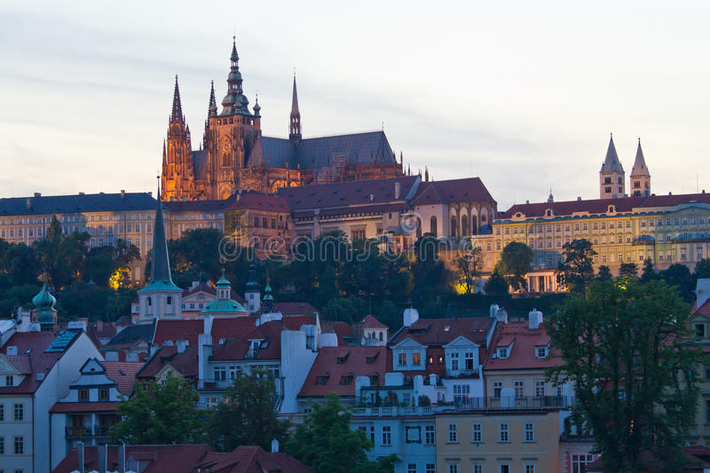Download View of Prague stock image. Image of night, historical - 20481751