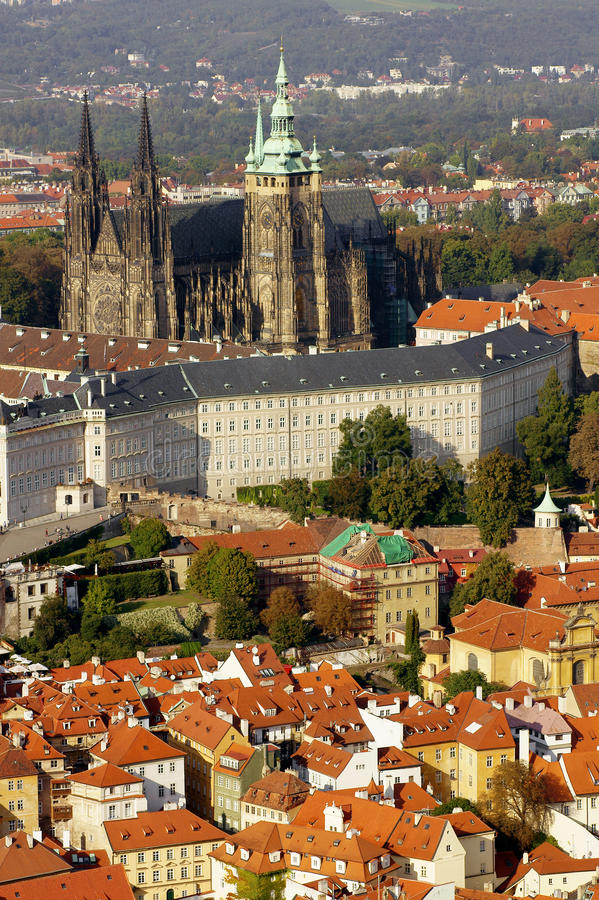 Download View of Prague. stock photo. Image of palace, roofs, architecturally - 21336114