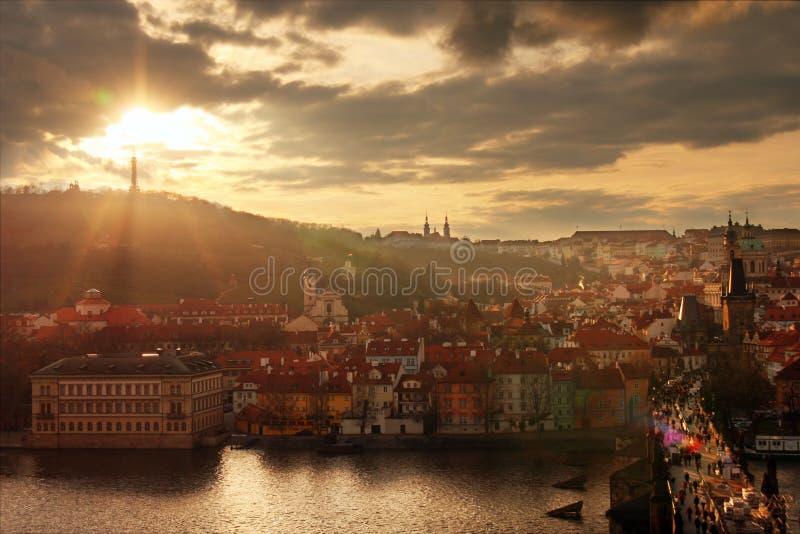 View of Prague stock photos