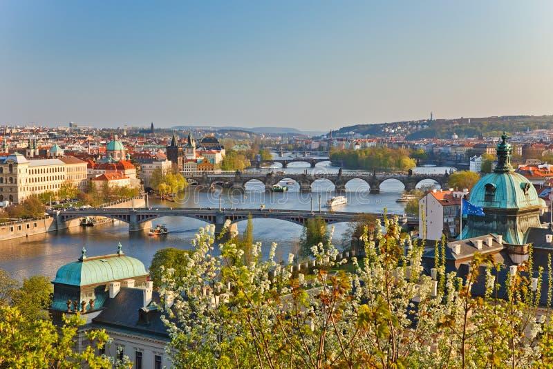 Download View on Prague Bridges stock image. Image of famous, landmark - 13941983