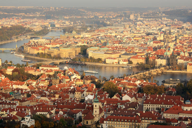 View Of Prague In Late Afternoon Stock Photos