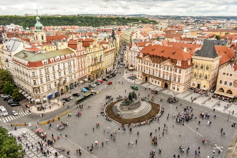View on Prague from the tower stock images