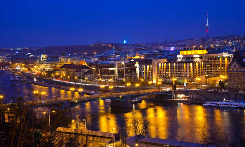 Download View On Prague And Vltava River Stock Image - Image of metropolis, reflections: 11097739