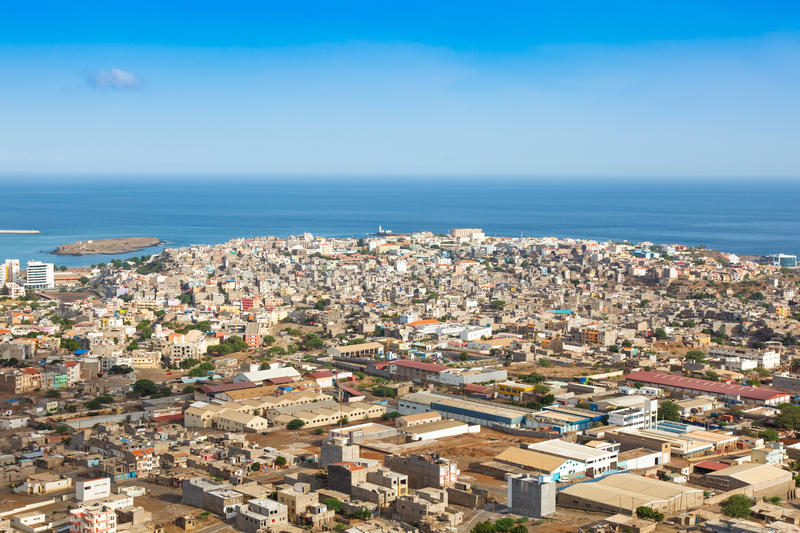 View of Praia city in Santiago - Capital of Cape Verde Islands -. Cabo Verde royalty free stock photos