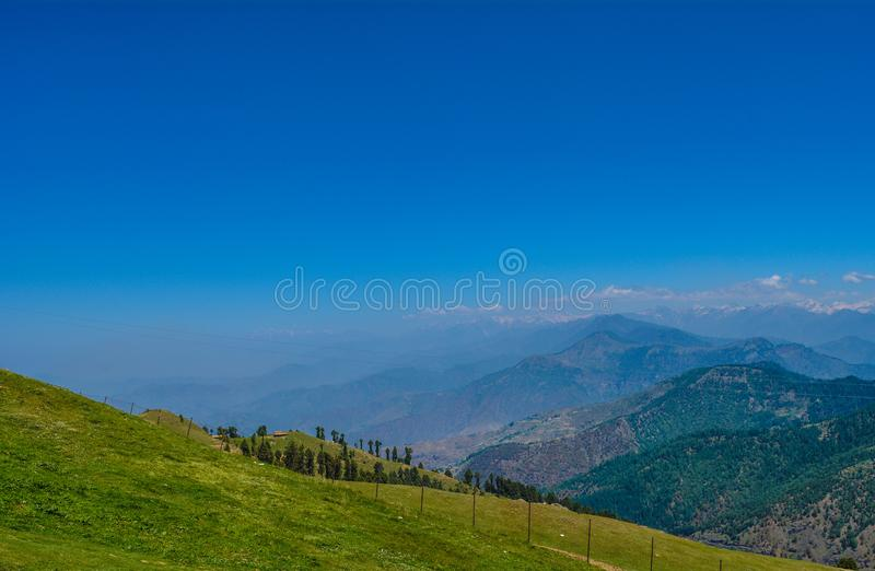 View from the Prashar Lake top royalty free stock photo