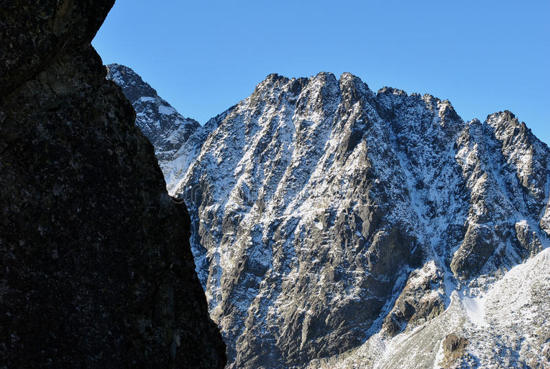 View from Priecne sedlo, High Tatras, Slovakia royalty free stock images