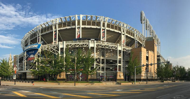 View of Progressive Field in Cleveland. A View of Progressive Field in Cleveland stock images