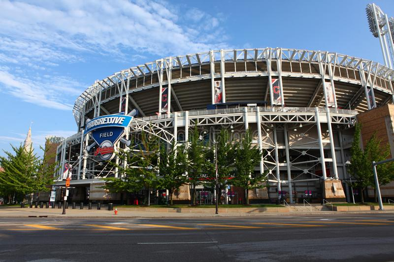 View of Progressive Field in Cleveland. A View of Progressive Field in Cleveland royalty free stock photos