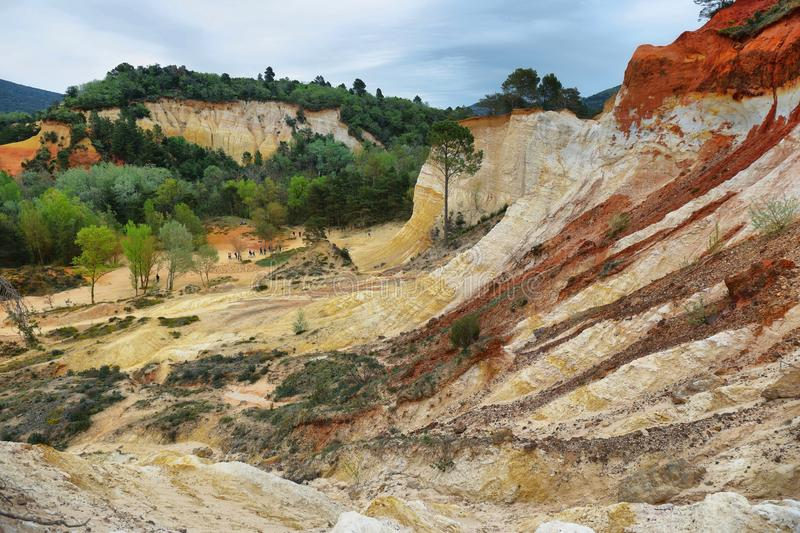 View of The Provencal Colorado - Provence, France royalty free stock images