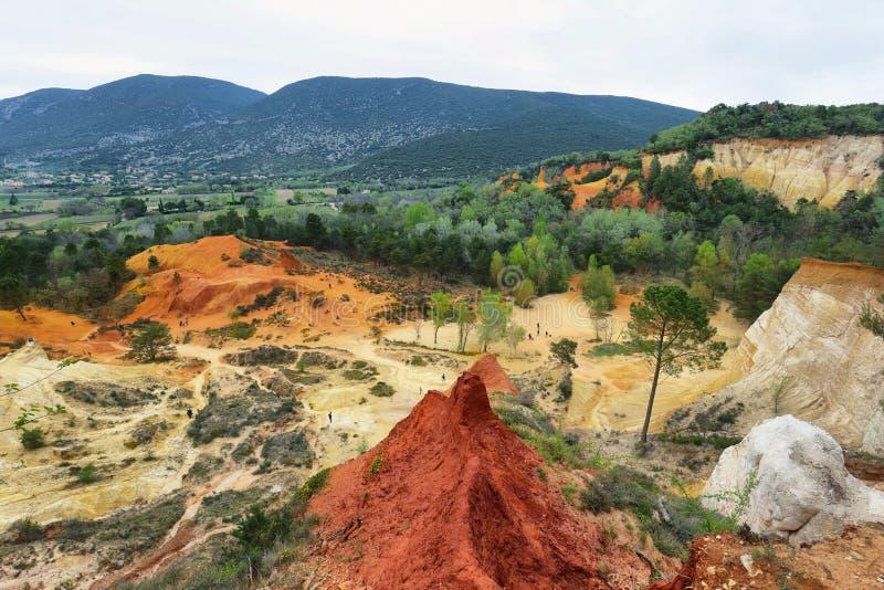 View of The Provencal Colorado - Provence, France royalty free stock photos