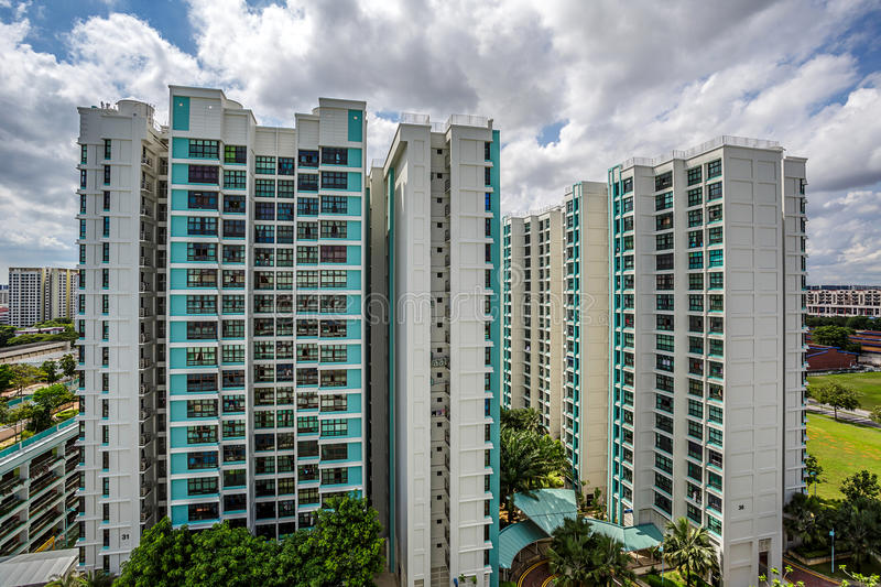 View of Public Housing Estate in Singapore royalty free stock images