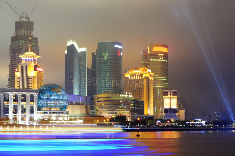 View of Pudong skyline, Shanghai, China royalty free stock photos