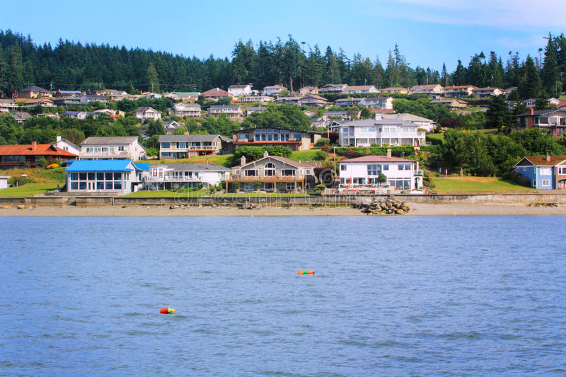 View of Puget Sound Neighborhood royalty free stock images