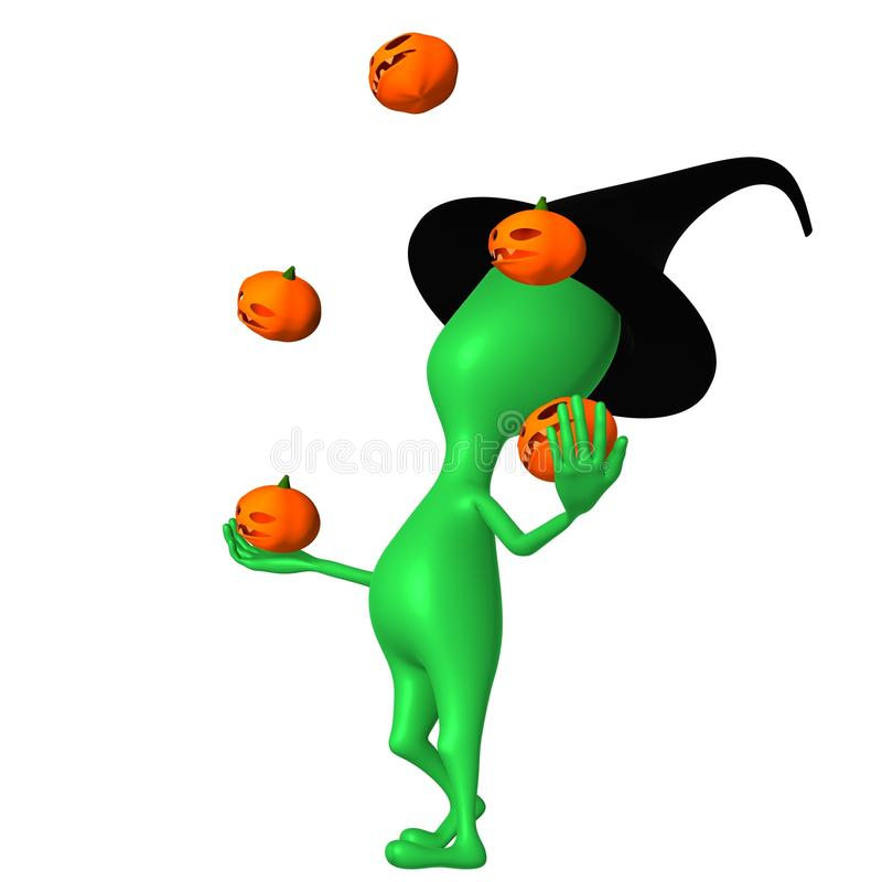 Download View Puppet Juggle With Small Pupkins Skillfully Stock Illustration - Illustration of message, plant: 27146064