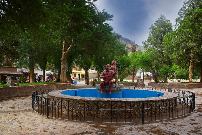 A view of Purmamarca`s main park royalty free stock photo