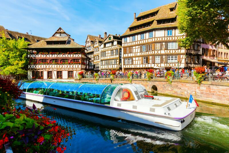 View of the quarter La Petite France in Strasbourg, France royalty free stock image