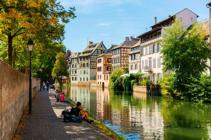 View of the quarter La Petite France in Strasbourg, France royalty free stock photo