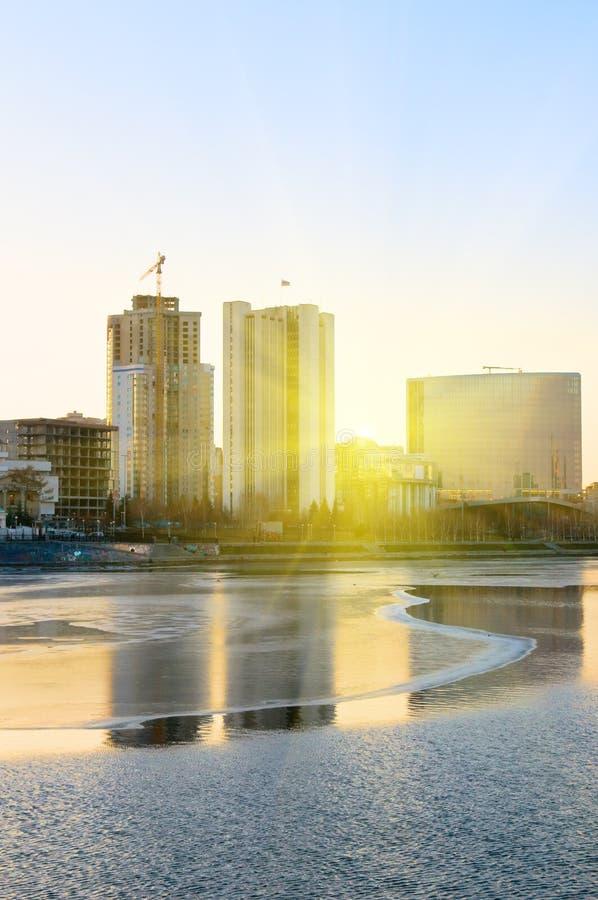 Download View Of Quay Wharf Embankment Yekaterinburg City. Stock Photo - Image: 7871356