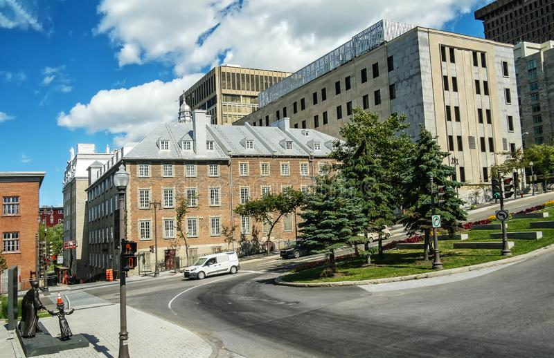 Historical Stone Buildings in Quebec City royalty free stock photography