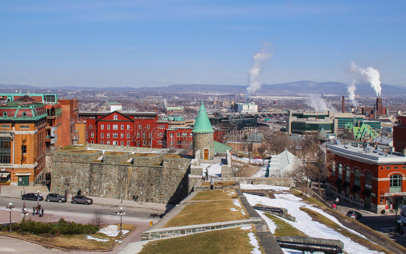 view of quebec city royalty free stock images