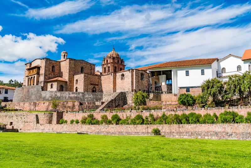 View of Qurikancha in Cusco. The most important temple in the Inca Empire royalty free stock image