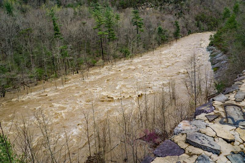 View of the Raging Rapids on the Maury River stock images