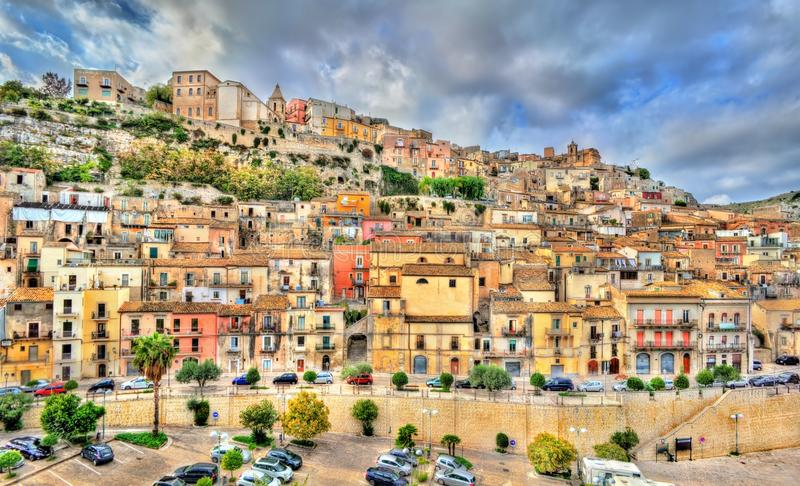 View of Ragusa, a UNESCO heritage town in Sicily, Italy stock photo