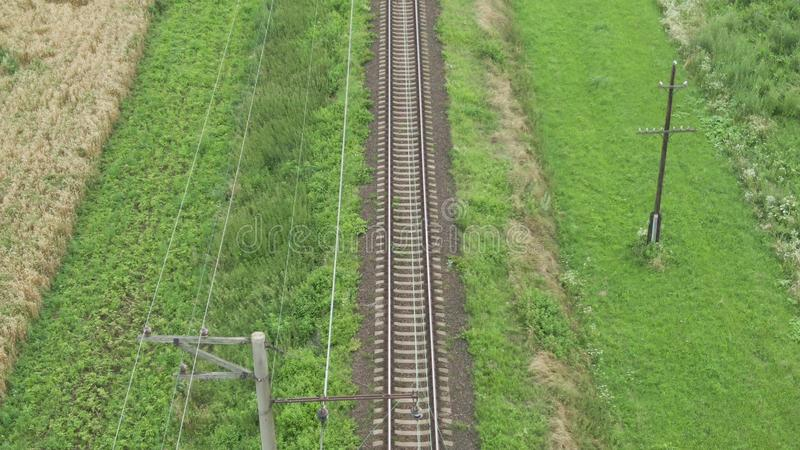 View on railway track lines stock images