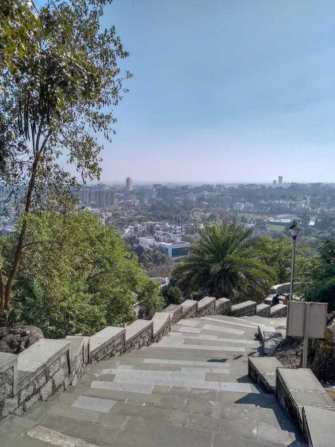 View of Ranchi city from Tagore hill stock photos