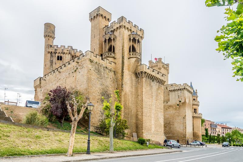 View at the Real Castle of Olite in Spain royalty free stock image