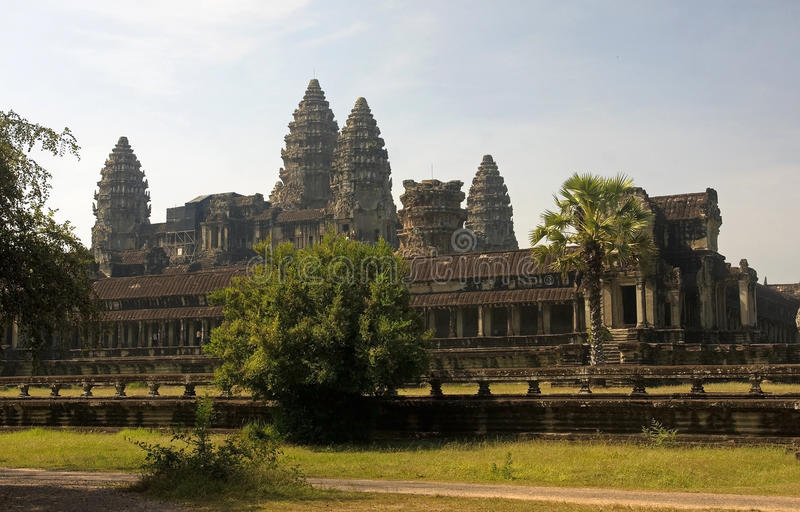 View from the rear entrance to Angkor Wat stock image
