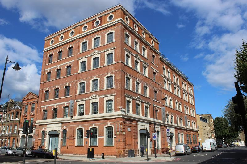 Cleaned red brick office block building royalty free stock photo