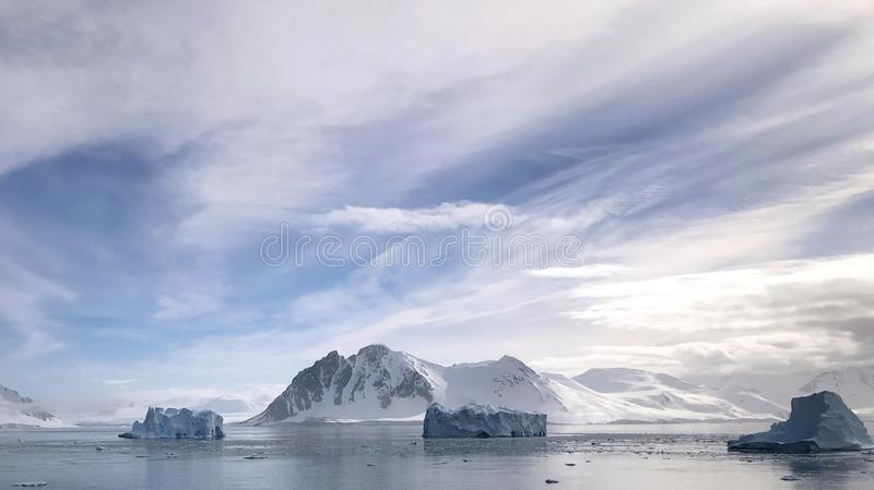 View from Red Rock Ridge, Antarctica royalty free stock photography