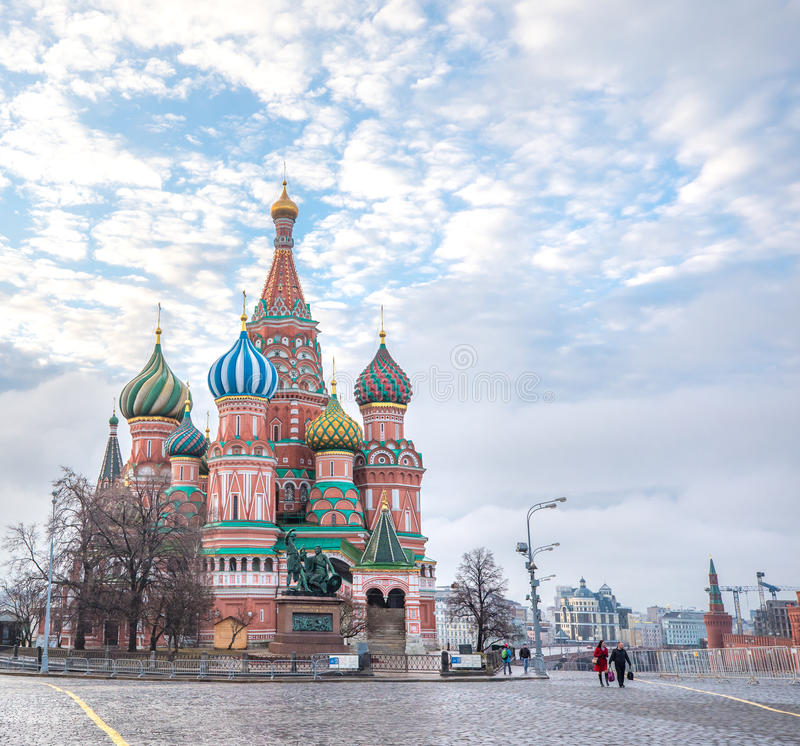 View of Red Square at dawn. royalty free stock images