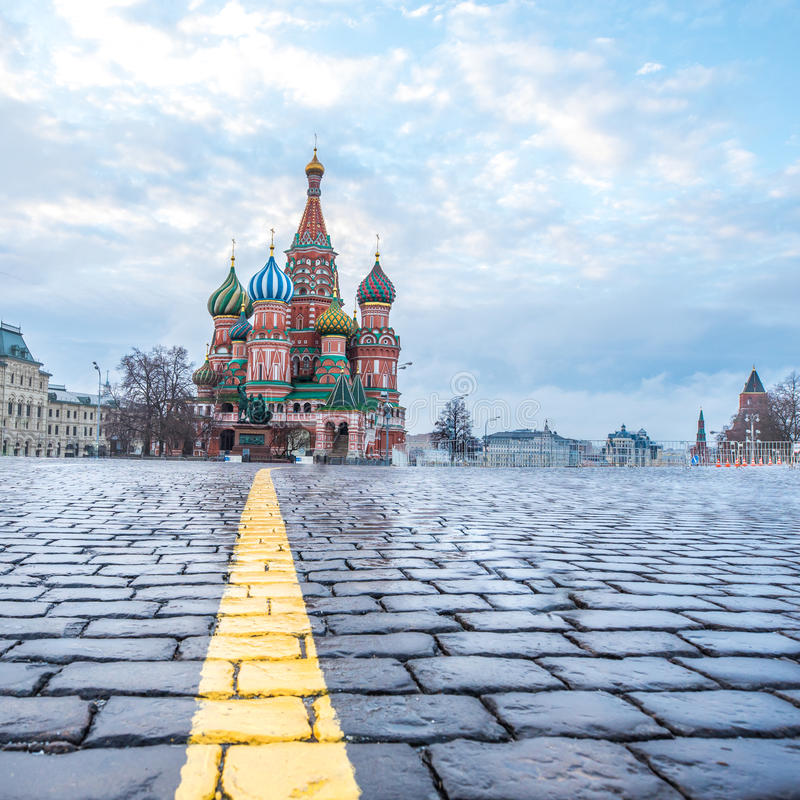 View of Red Square at dawn. royalty free stock photos