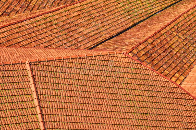 View on a red tiled roofs of Porto stock photography