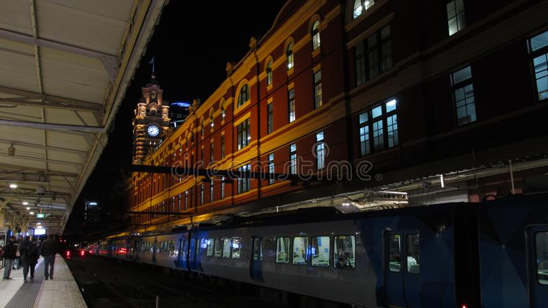View of the refurbished Flinders Street Station from the inside royalty free stock images