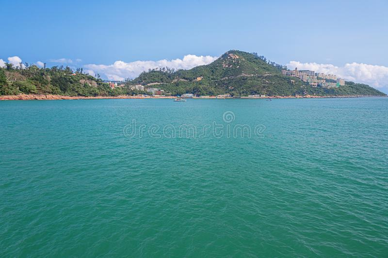 View of Repulsive Bay and its dominating hills. In Hong Kong stock photo