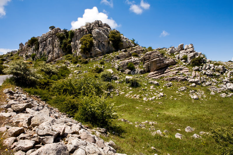 Download View Of Reserve El Torcal In Andalucia Stock Image - Image: 7205419
