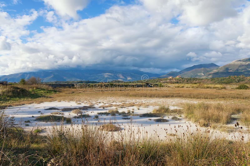 View of reserve Solila on a winter day. Montenegro stock photography