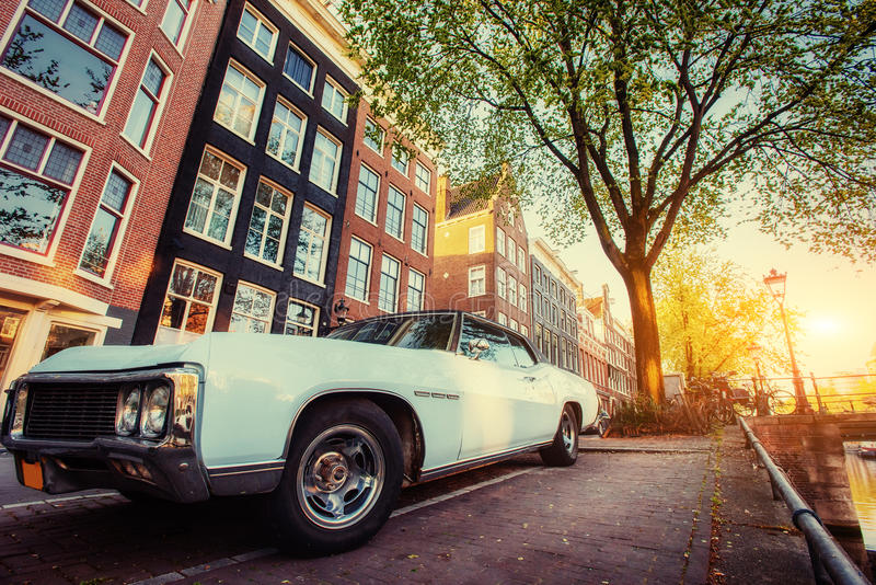 View a retro car. Amsterdam - Netherlands. Beauty world Europe. View a retro car. Amsterdam - Netherlands. Beauty world. Europe stock photos