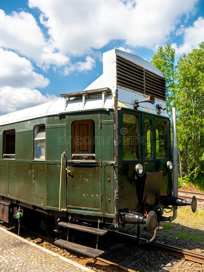 View on a retro train in Szentendre, Hungary stock images