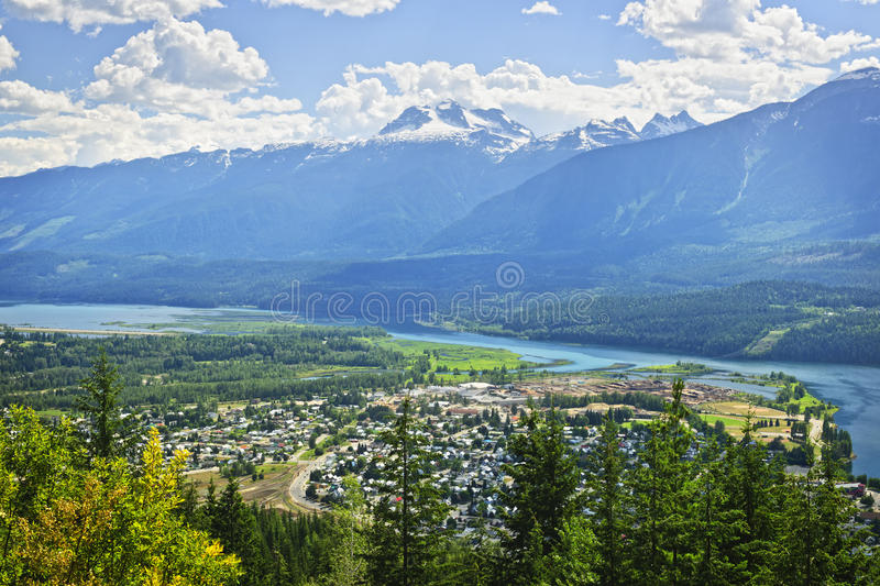Download View Of Revelstoke In British Columbia, Canada Stock Image - Image: 19672807
