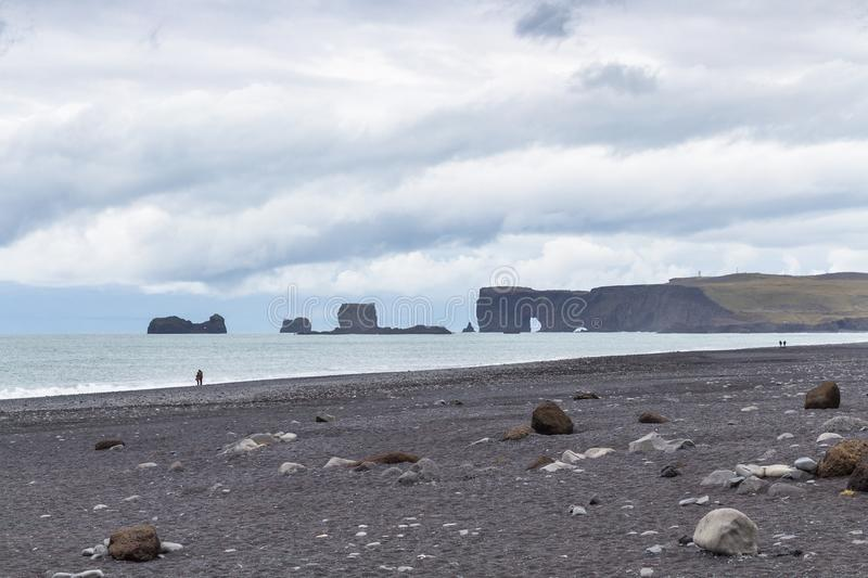 view of Reynisfjara Beach in Iceland stock images