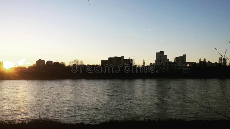 View on rhine river royalty free stock photos
